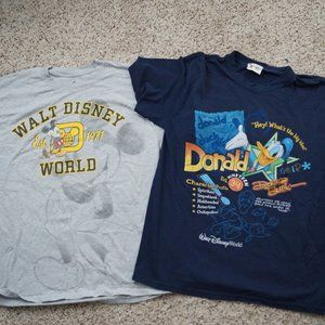 Lot of 2 Mickey Mouse & Donald Duck Blue and Gray